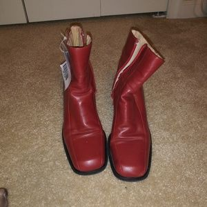 Shoes - Red size 7 Ankle Boots